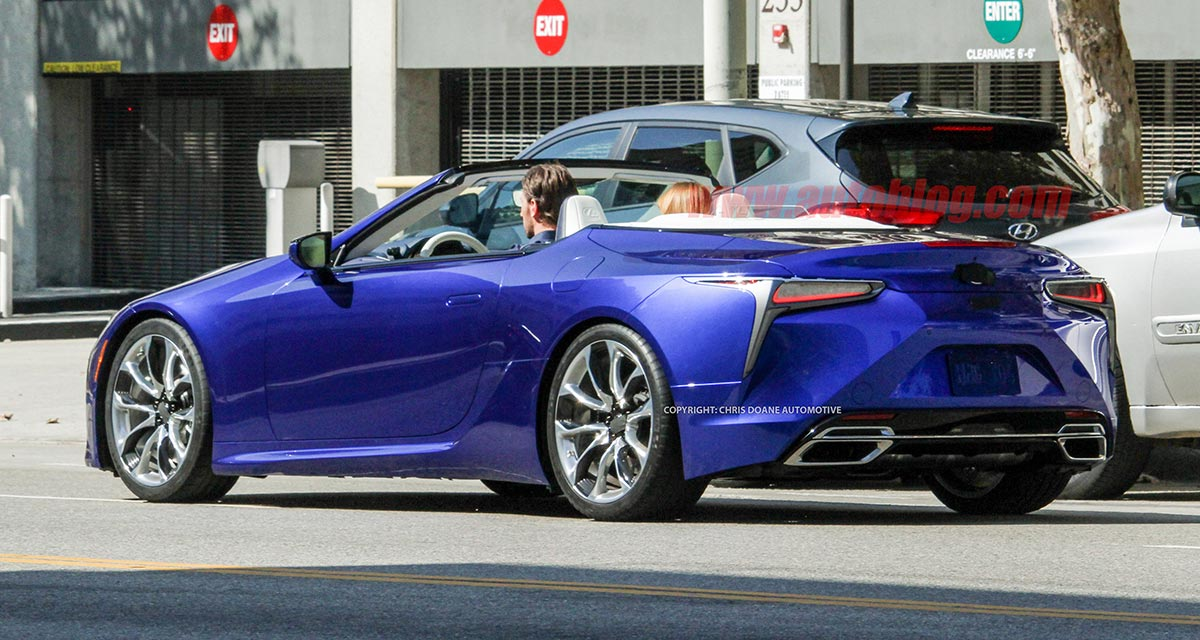 Lexus LC Convertible Production Rear