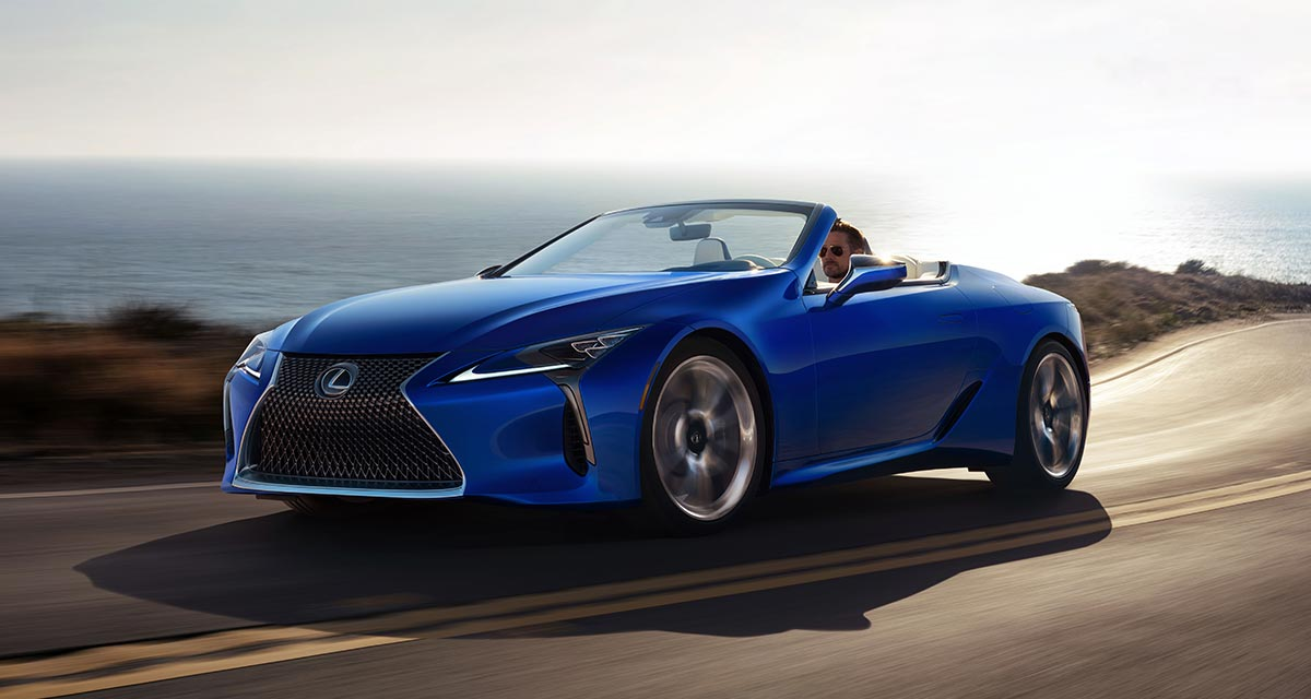 Lexus LC Convertible Driving