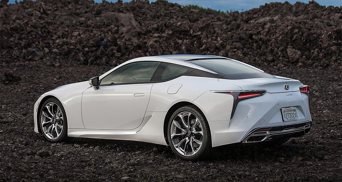 Lexus White LC