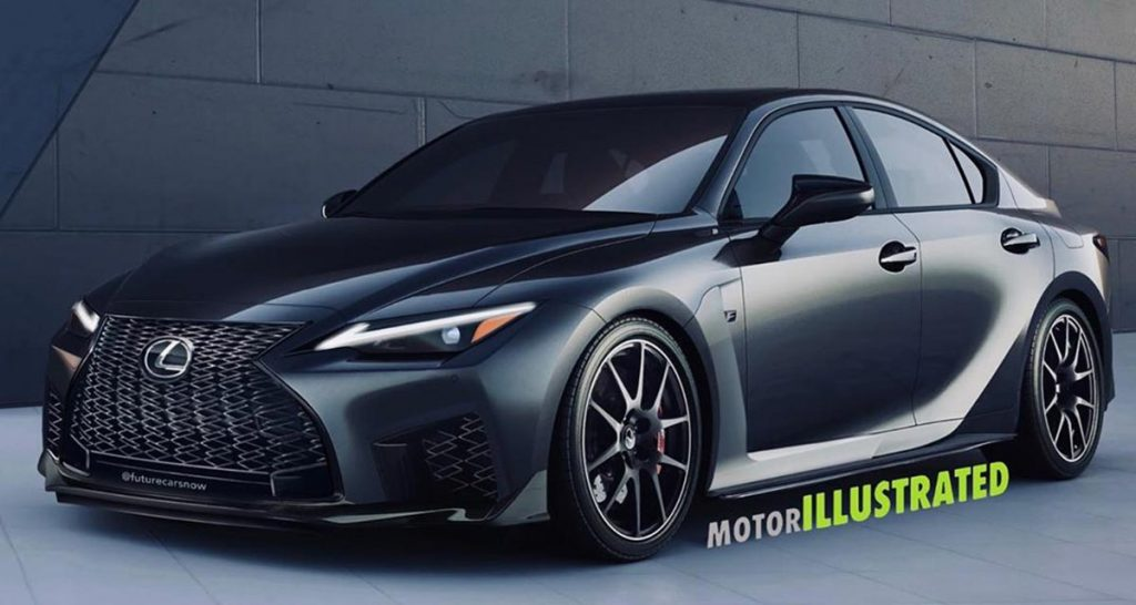 rendered the 2021 lexus is f would have looked good