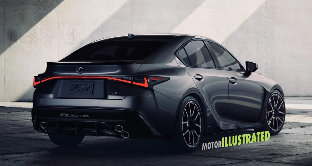 Lexus IS F Rendering Rear