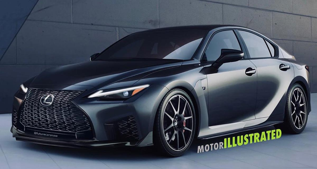 Lexus IS F Rendering