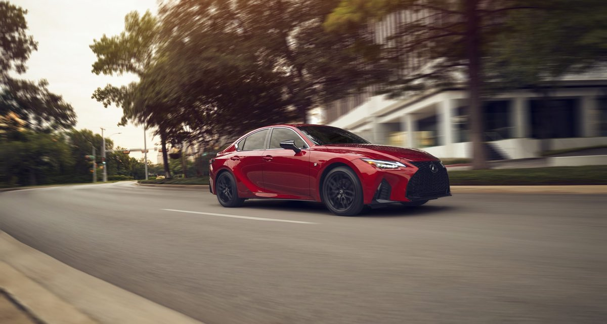 Lexus IS Red Driving