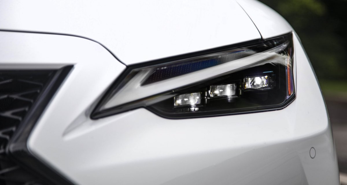 Lexus IS White Headlight