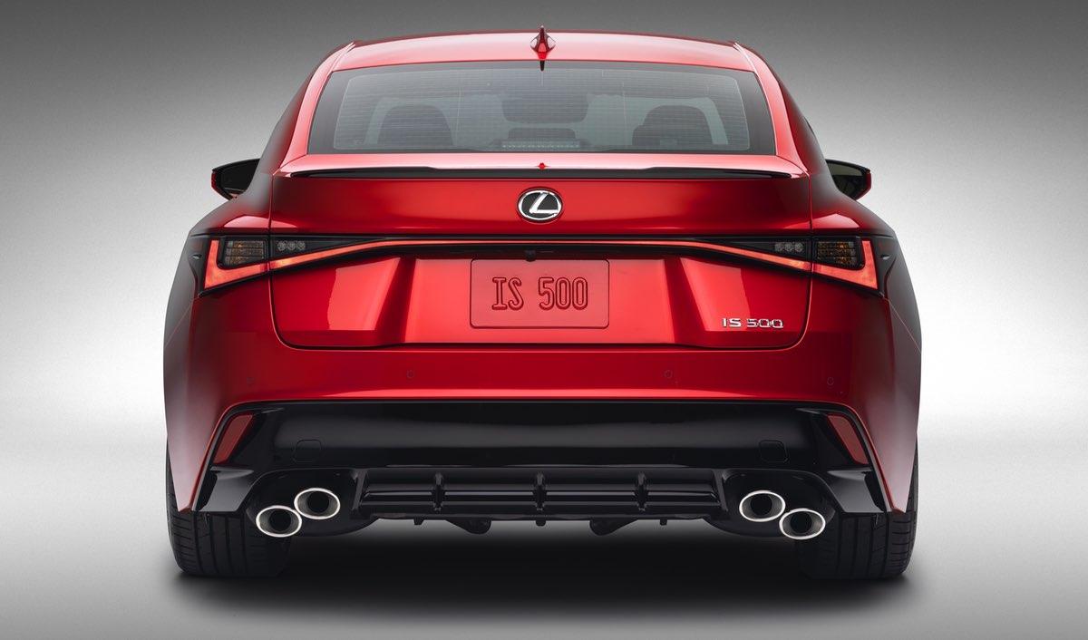 Lexus IS 500 Quad Exhaust