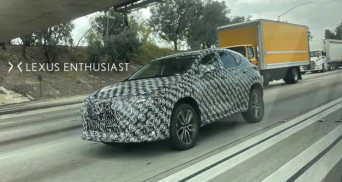 Lexus NX Spy Shot Side