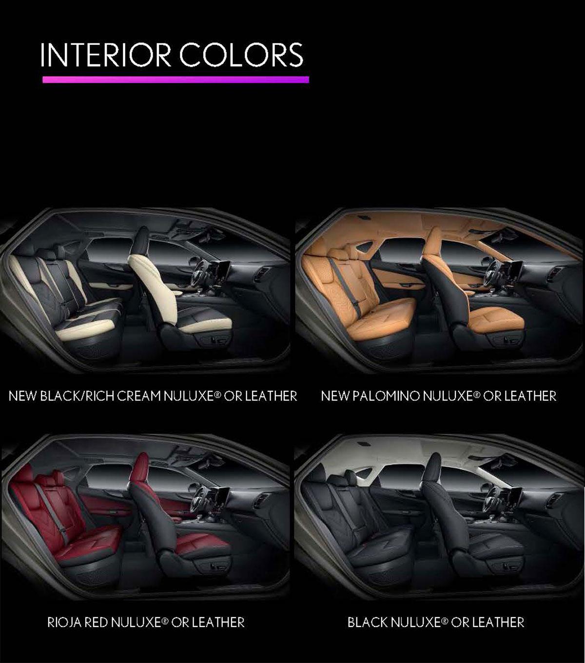 Lexus NX Interior Colors