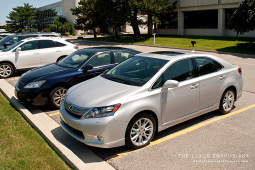 2010 Lexus HS 250h compared to the ES 350
